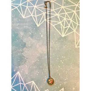 Forever 21 Floral Pendant Necklace